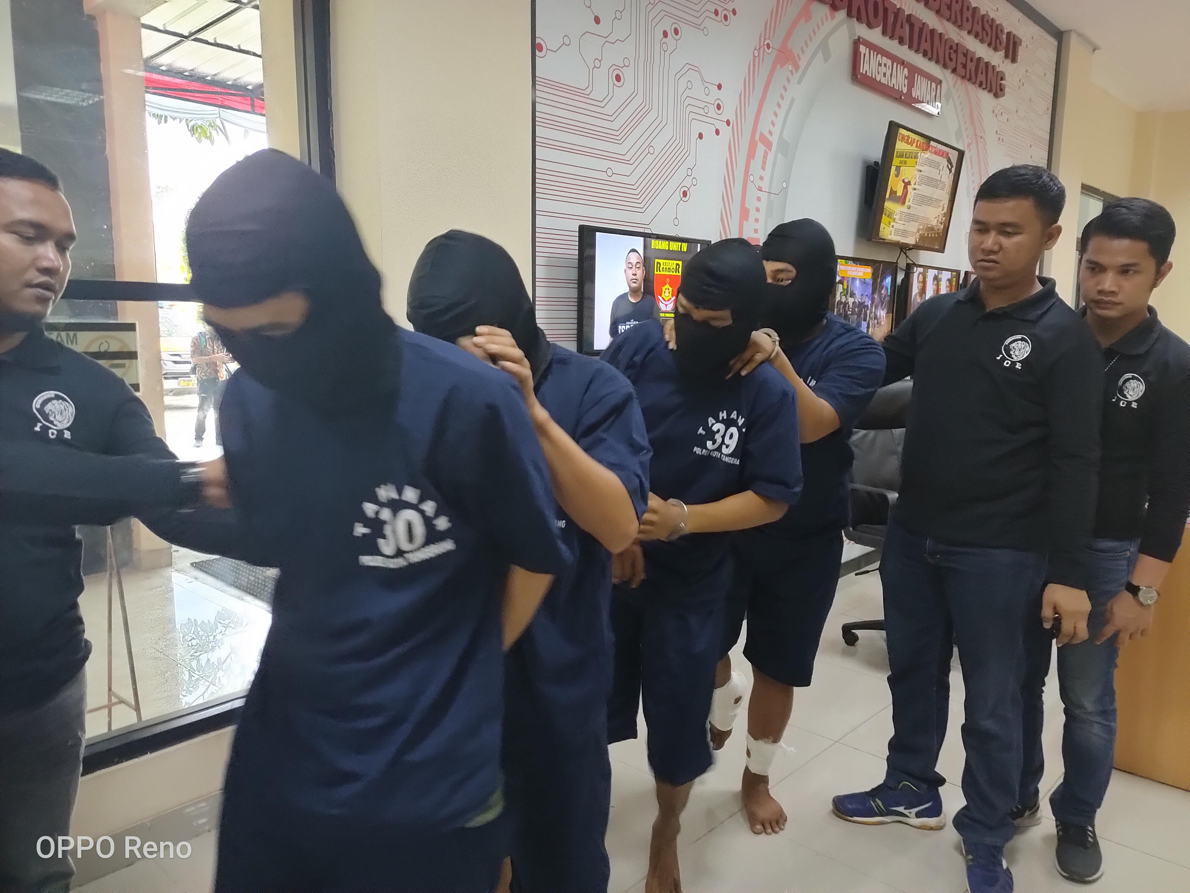 Beraksi di 30 TKP, 4 Komplotan Curanmor Dibekuk Jajaran Polresta Tangerang
