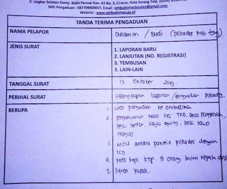 Ombudsman Banten Rekom Tes Ulang Seleksi Pilkades Diapresiasi Aktivis