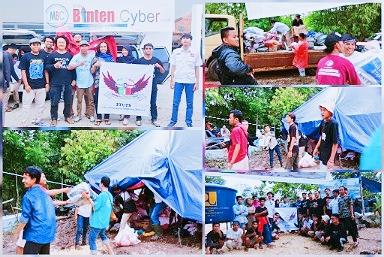 Komunitas Vespa Scooterist Ujung Tangerang Serang Kirim Bantuan Korban Banjir Lebak