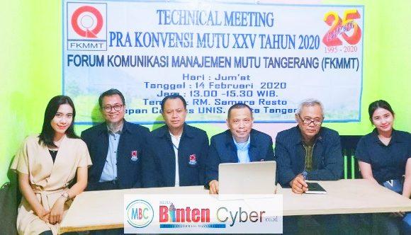 Forum Komunikasi Manajemen Mutu Tangerang, akan Gelar Konvensi XXV Tahun 2020 di Cisarua Bogor