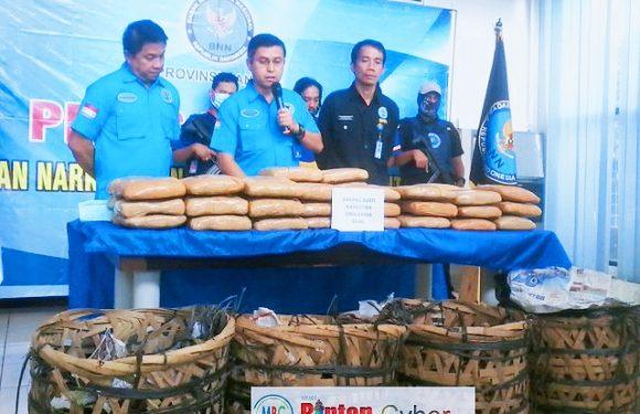 Lagi, 50 Kg Narkotika Jenis Ganja Milik Warga Binaan Diamankan BNNP Banten