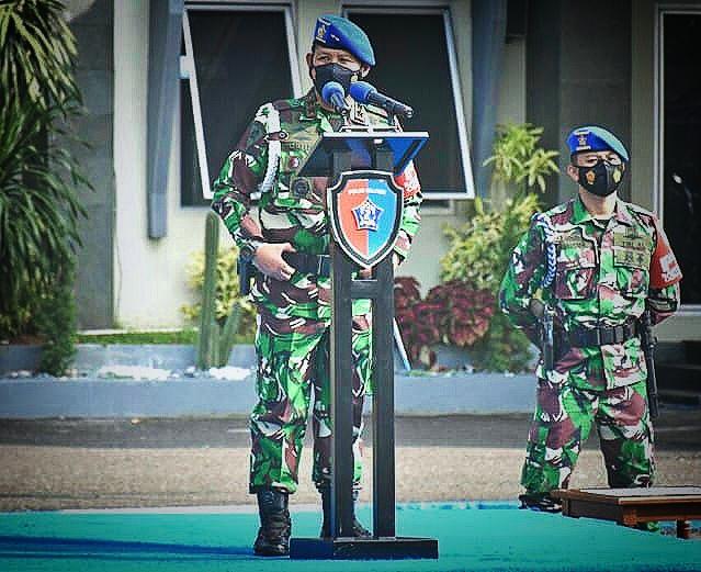 Puspomal Gelar Apel Khusus Terkait Larangan Mudik Idul Fitri Bagi Prajurit TNI AL