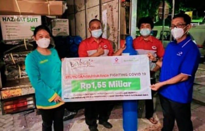 Toyota Donasi 300 Tabung Oksigen dan 10.800 Sarana