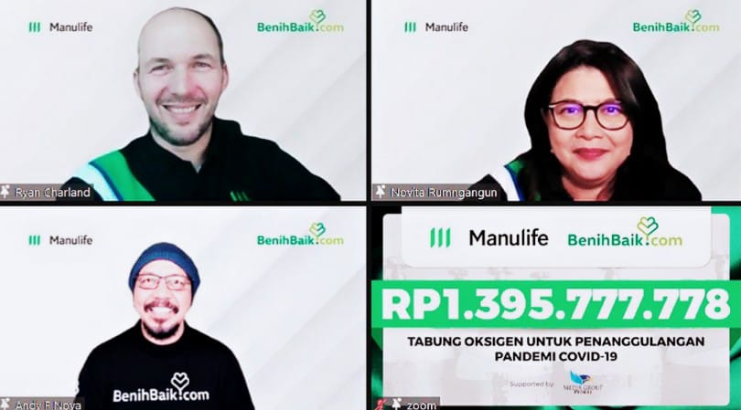 Manulife Berdonasi 500 Tabung Oksigen untuk Faskes di DKI dan Jatim