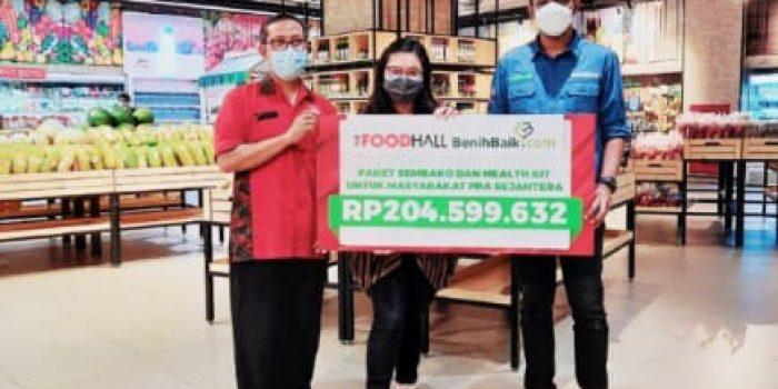 3.155 Masyarakat Pra Sejahtera Dapatkan Donasi The Foodhall Rp374 Juta